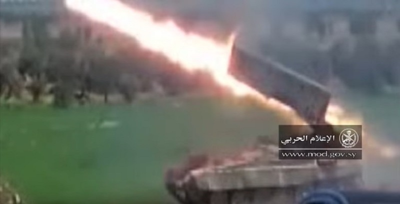 Footage: TOS-1 Heavy Flame-Thrower System Purges Militant Manpower In Northern Hama