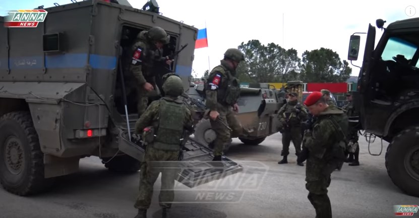 Footage: Russian Military Servicemen Arriving to YPG-Held Afrin