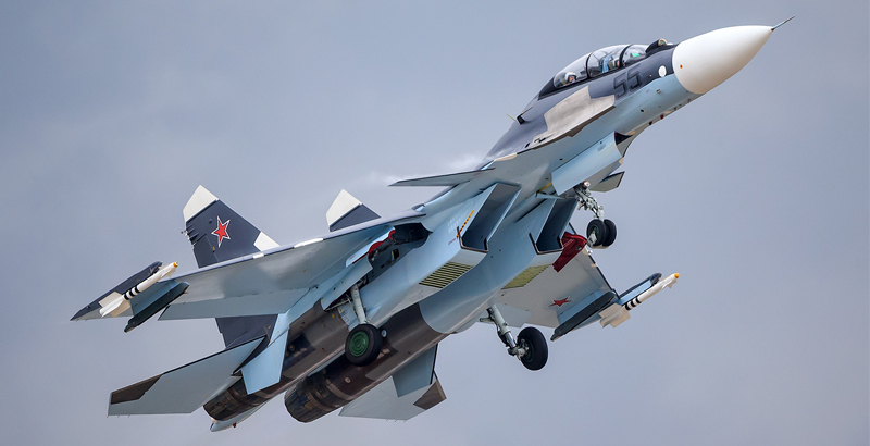 Russian Su-30SM and Su-35 Bombard Terrorists in Northern Hama & Idlib (Video)