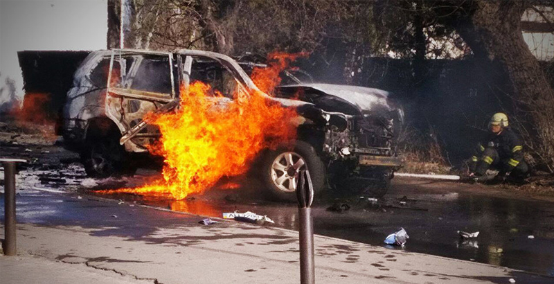 Ukrainian Colonel Killed in Car's Explosion in Mariupol