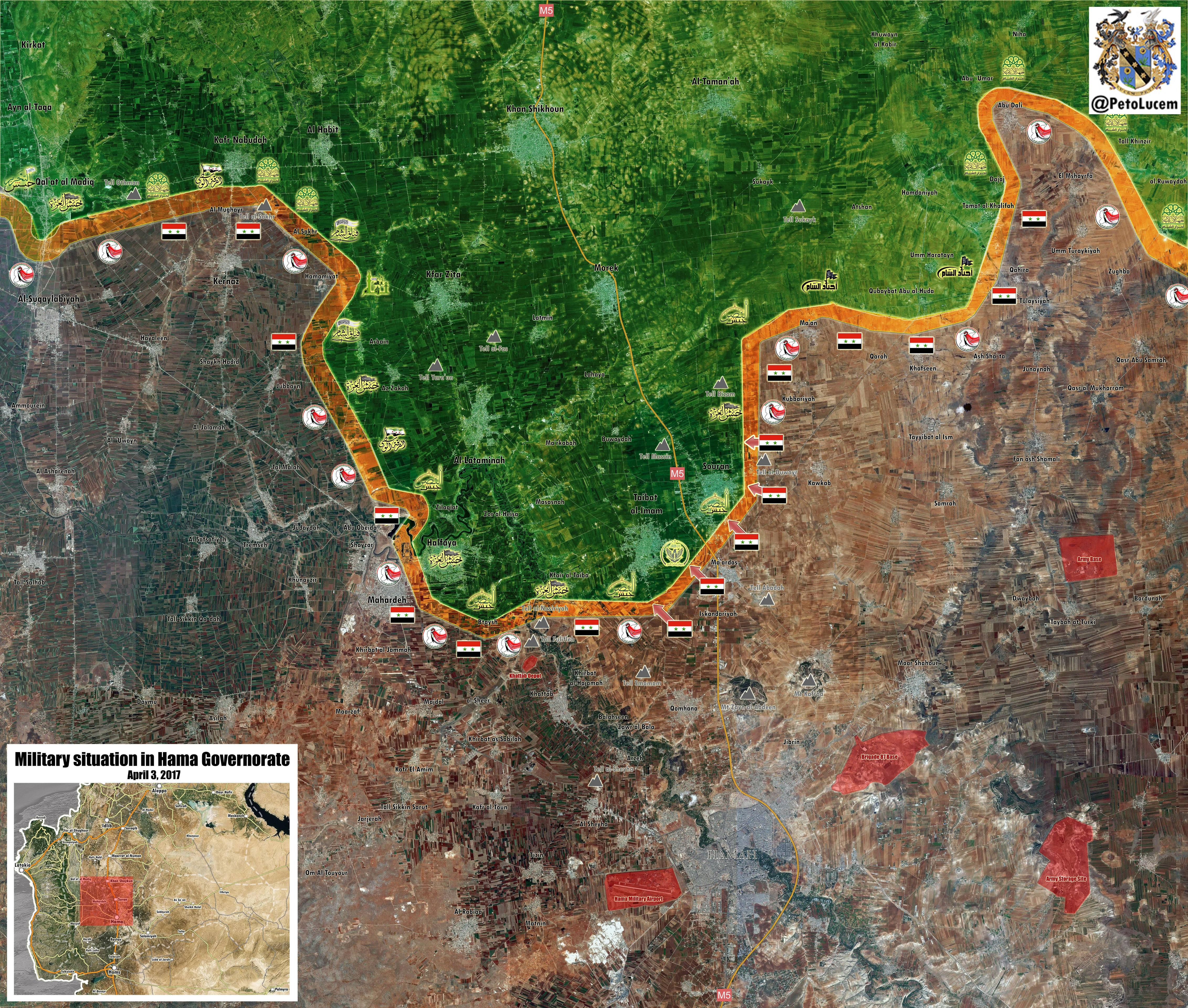 Current Military Situation In Northern Hama, Syria