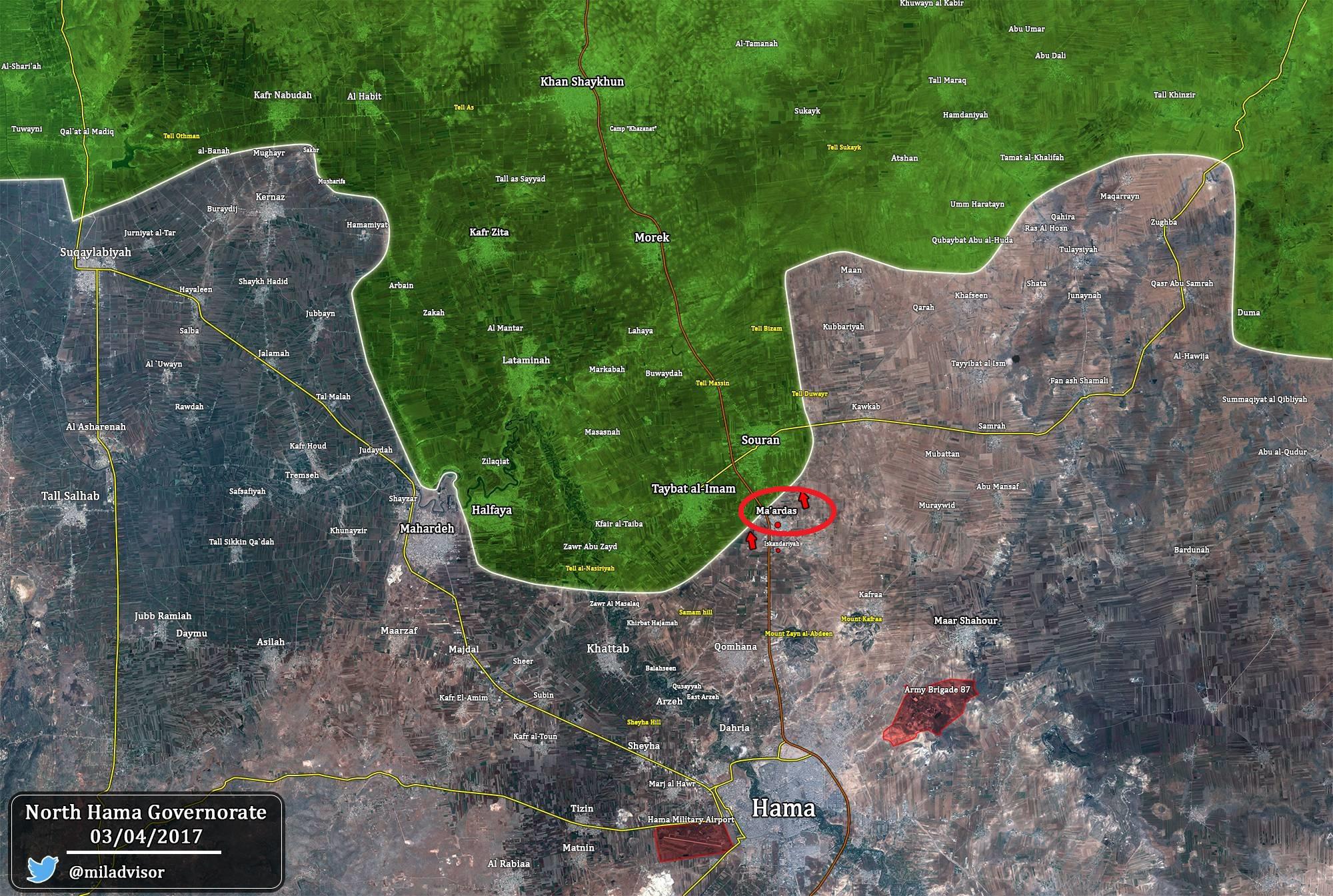 Militants Storming Maardes In Northern Hama