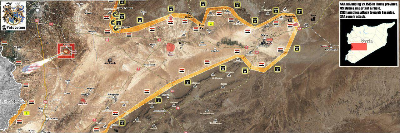 Syrian Army Advances Towards Gas Fields Near Palmyra (Maps, Video)