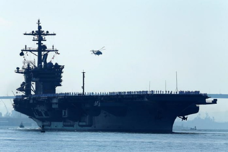 US Navy Sends Carrier Strike Group To Maintain Physical Presence Near Northern Korea