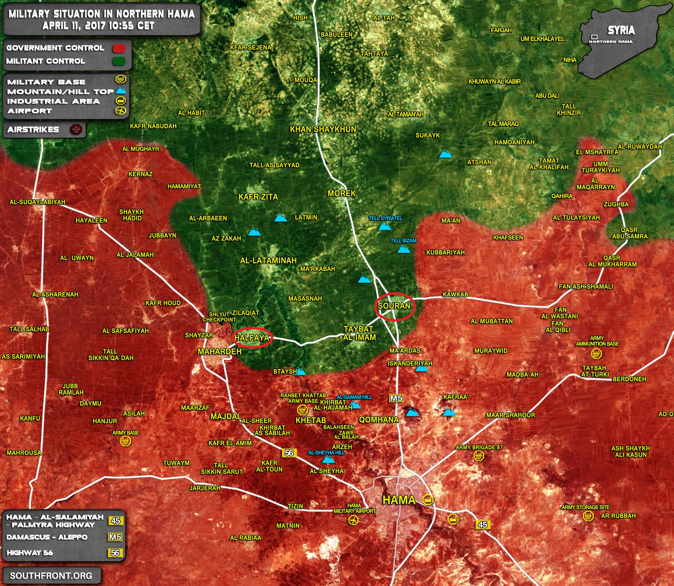 Multiple Airstrikes Hit Militant Positions In Northern Hama Ahead Expected Syrian Army Advance On Souran