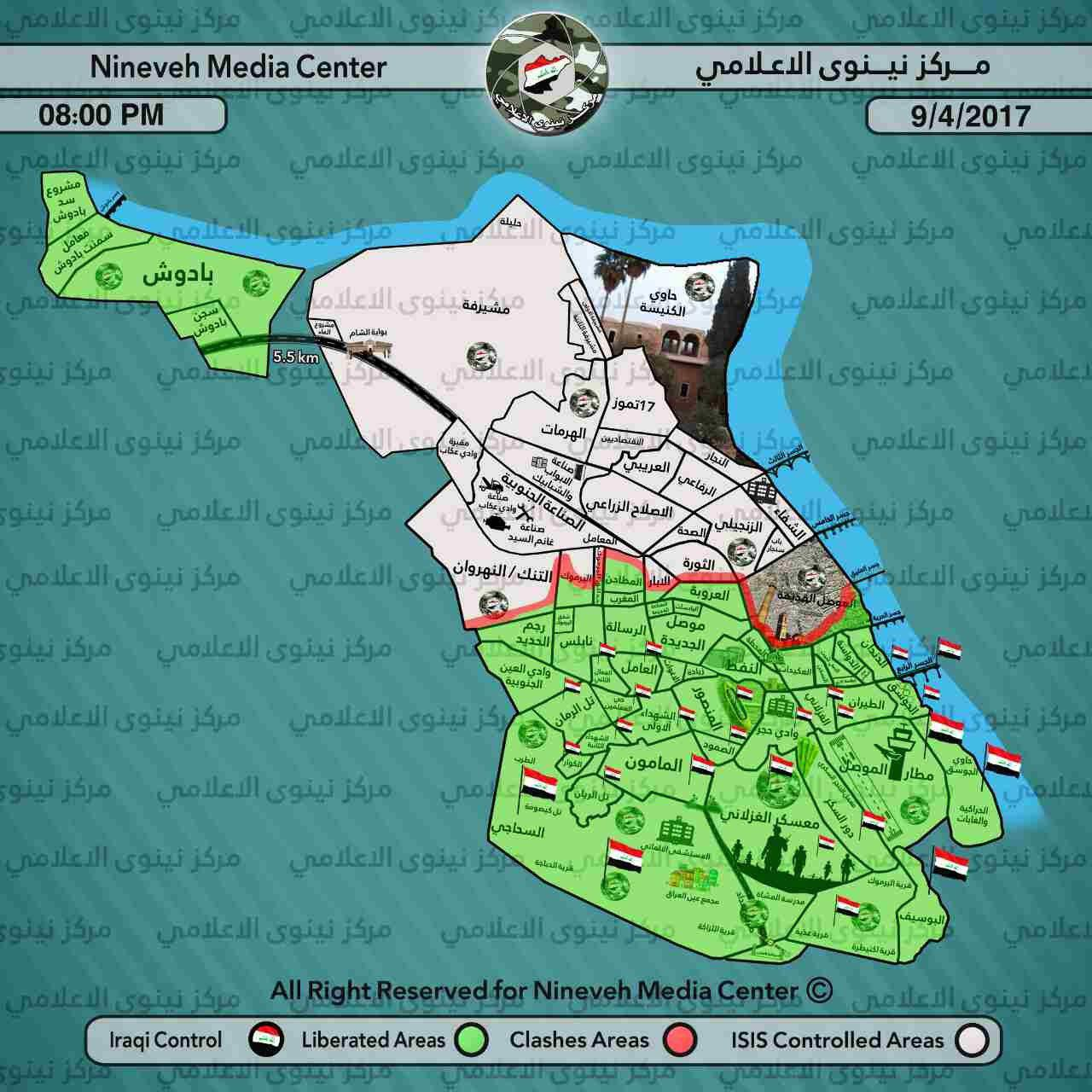 Iraqi Army Liberates Al-Matahen District In Western Mosul