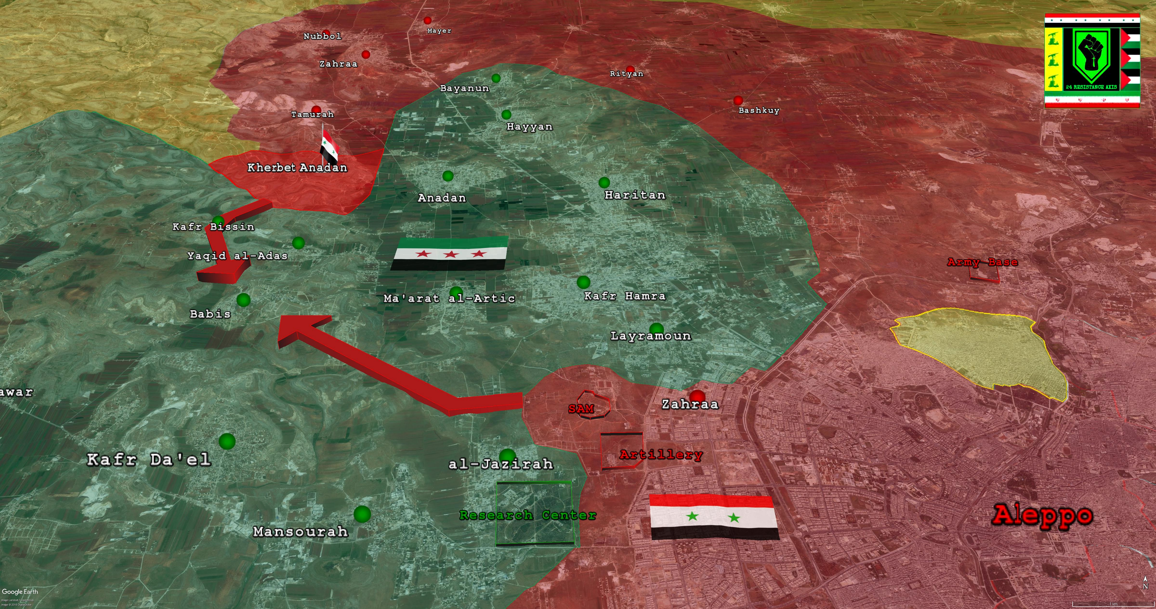 Map Update: Government Advance Northwest Of Aleppo City