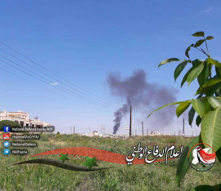 Syrian Warplanes Bombed Militant Weapons Depot In Helfaya In Hama Province