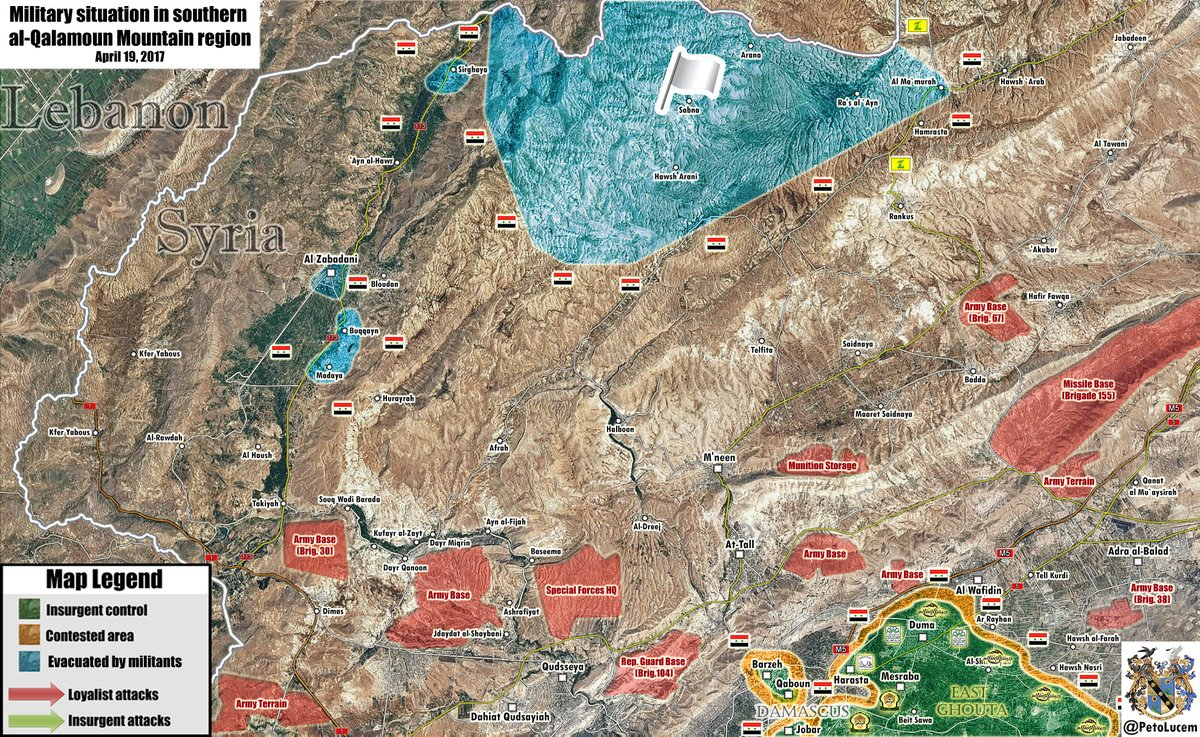 Military Situation In Northwestern Countryside Of Damascus After Liberation Of Zabadani