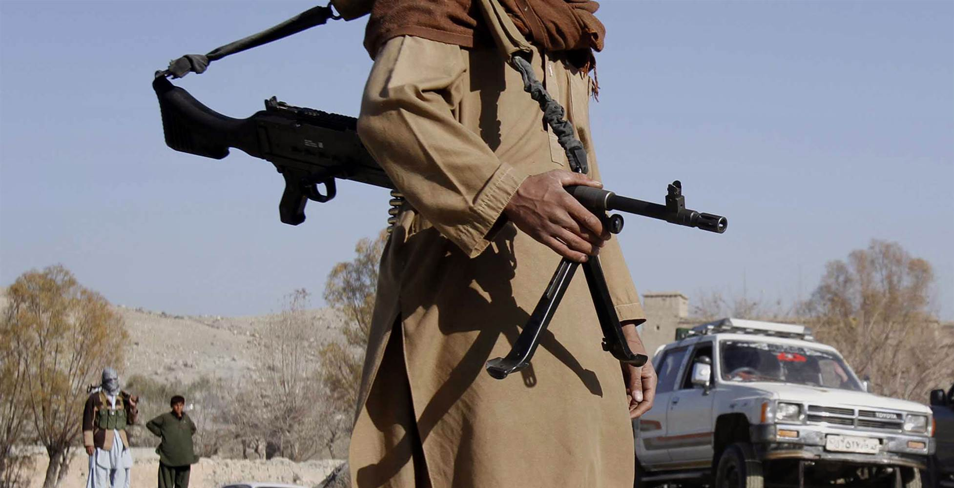 A Taliban fighter mans a checkpoint in Nangarhar province, Afghanistan, in 2010. AP file