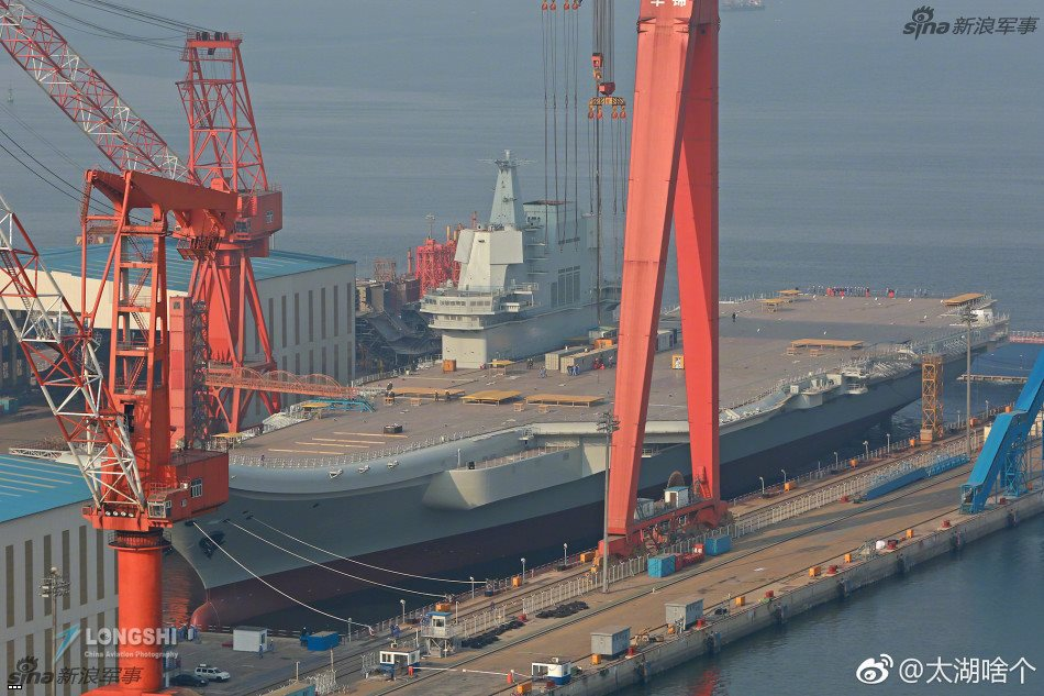 China Making Final Preparations To Launch Its First Domestically Built Aircraft Carrier (Photos)