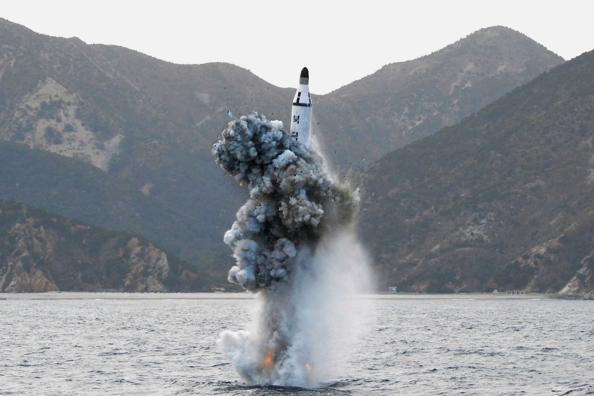 KN-11 missile submerged test launch conducted on August 8th, 2016.