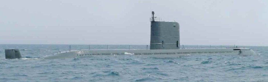 Sinpo Class submarine. It is hypothesized that one KN-11 SLBM may be housed as to fire vertically up through the rear section of the conning tower.
