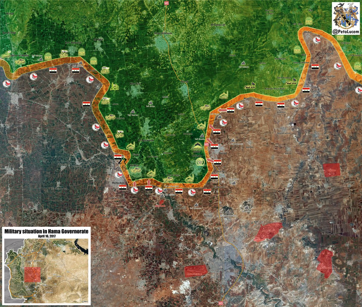 Map Update: Military Situation In Northern Hama. Government Forces Capture Souran And Tell Bizam