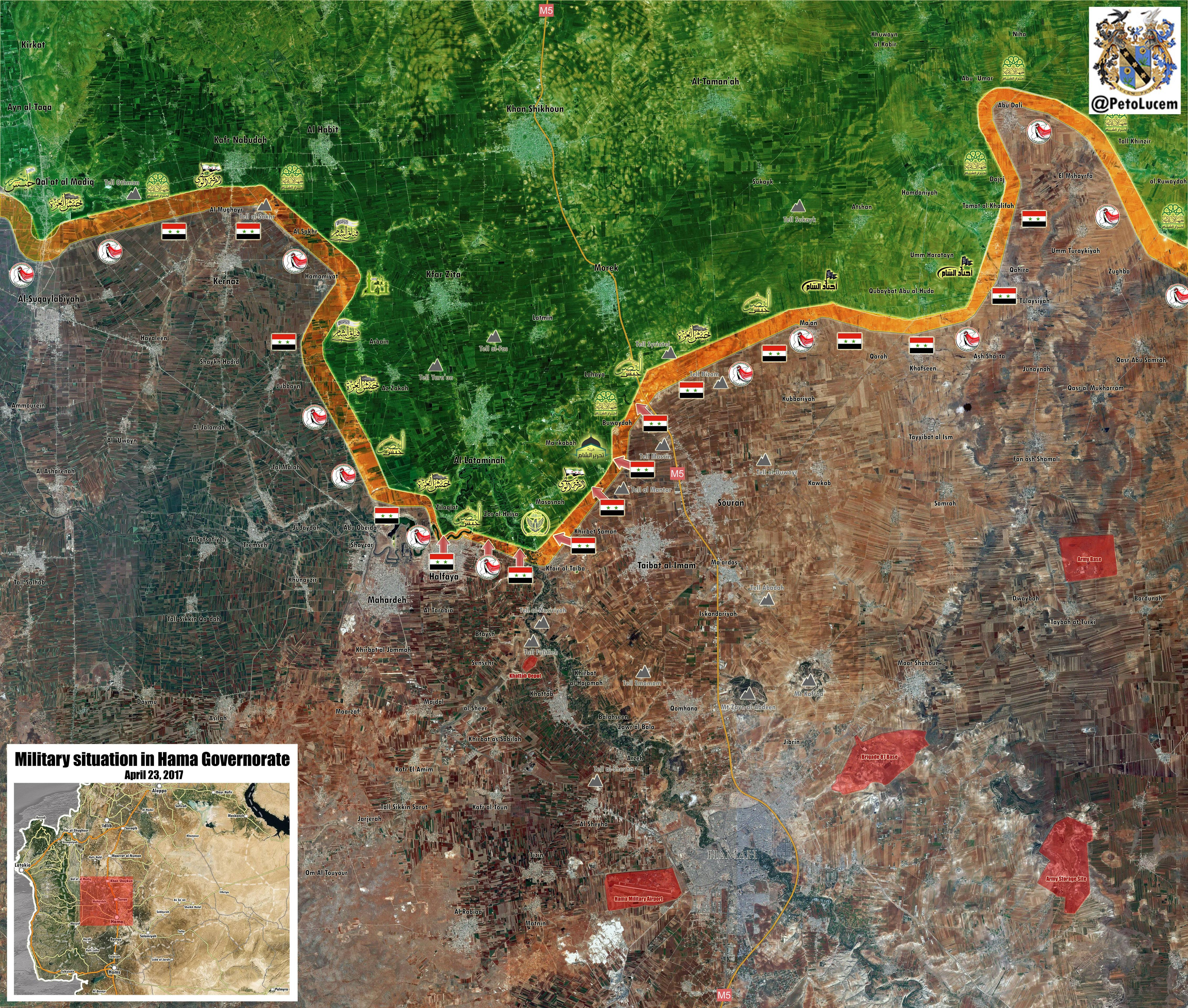 Government Forces Liberate Important Town Of Helfaya In Northern Hama, Lataminah and Morek - Next (Maps, Photos)
