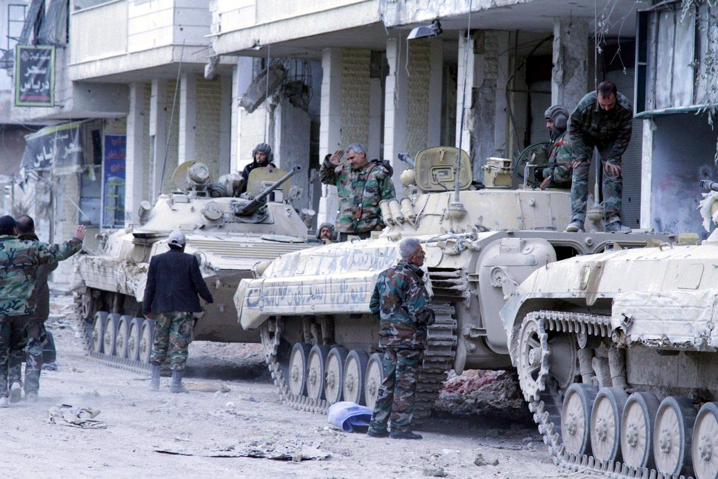 Syrian Army Separates Barza Orchards From Al-Qaboun - Reports