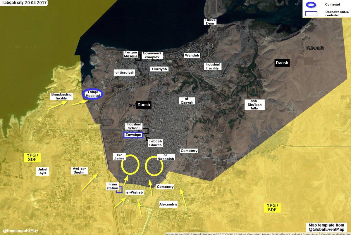 Syrian Democratic Forces Captured Al-Nababla And Al-Zahra Districts In Tabqa