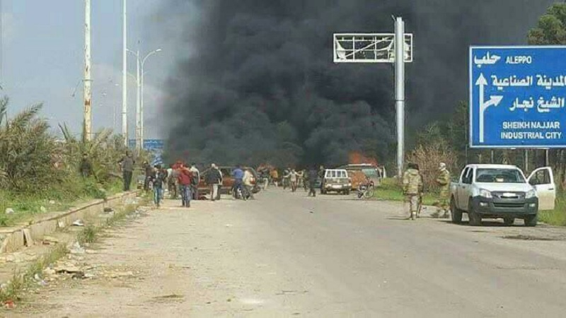 Suicide bombing targeted civilians evacuated from Kafriya and Fou'a