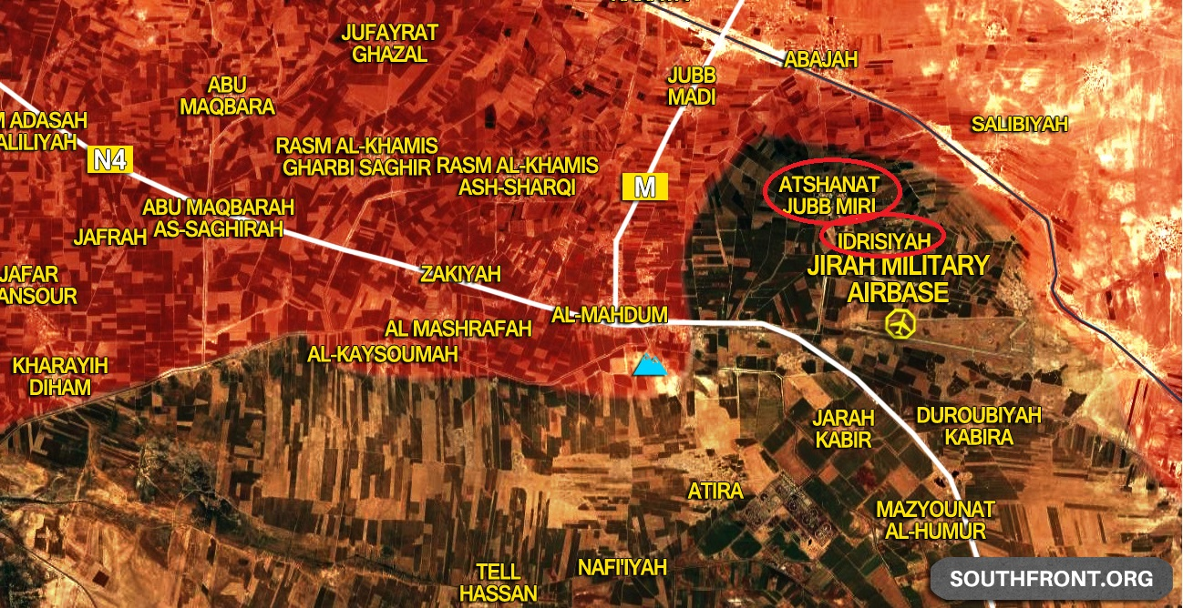 Syrian Army Liberates Two Villages Near ISIS-Held Jirah Airbase In Aleppo Province