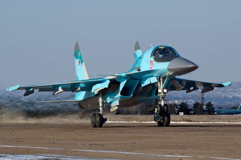 Russia Deployed Four New Su-34 Fighter Bombers To Hmeimim Air Base