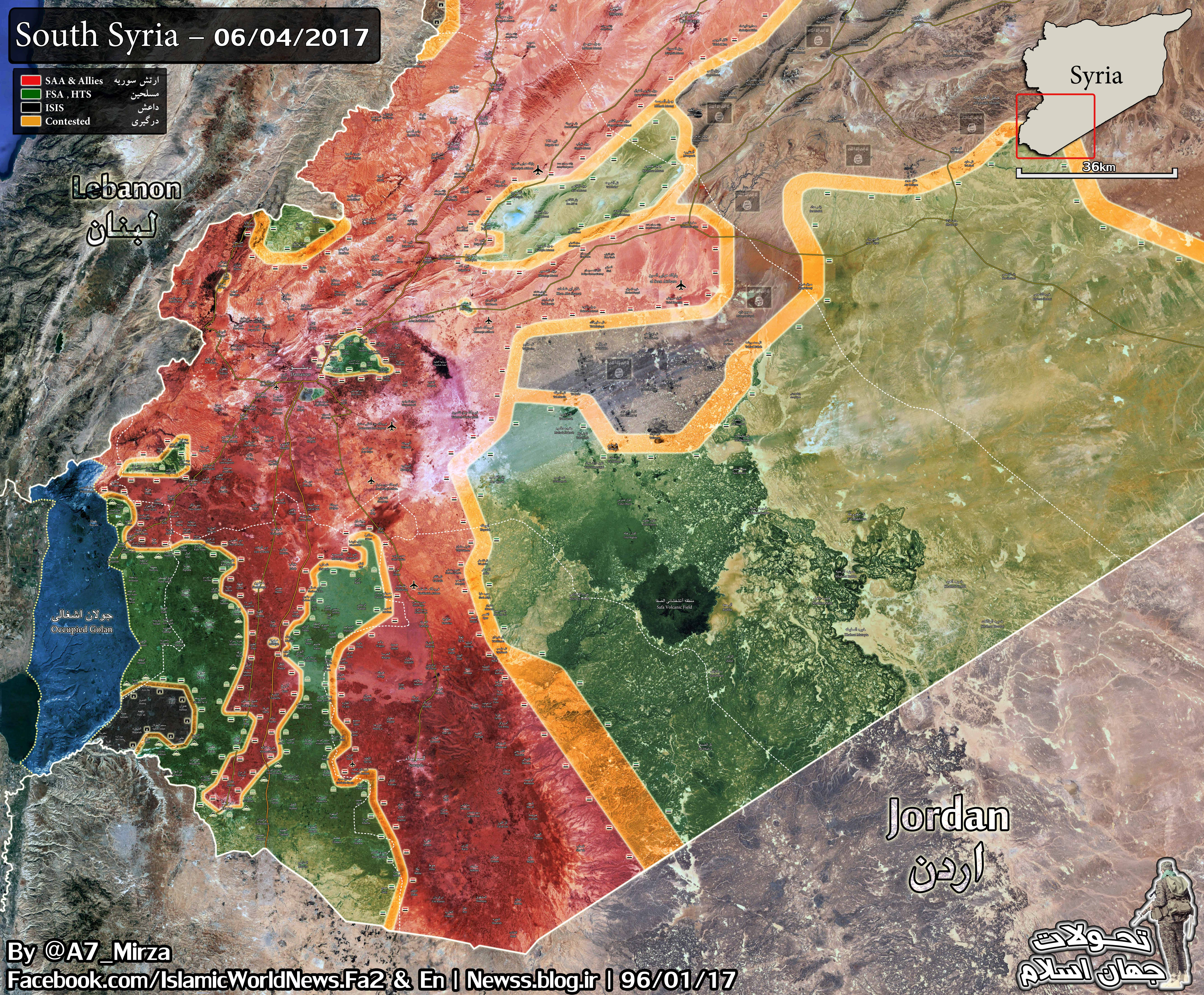Military Situation In Southern Syria On April 6, 2017 (Map)
