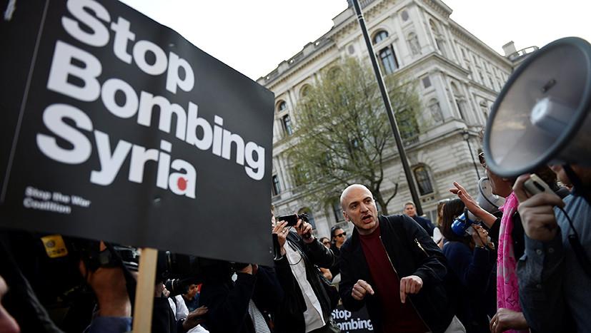 Rallies against Missile Strike in Syria Held in US (Photos, Videos)