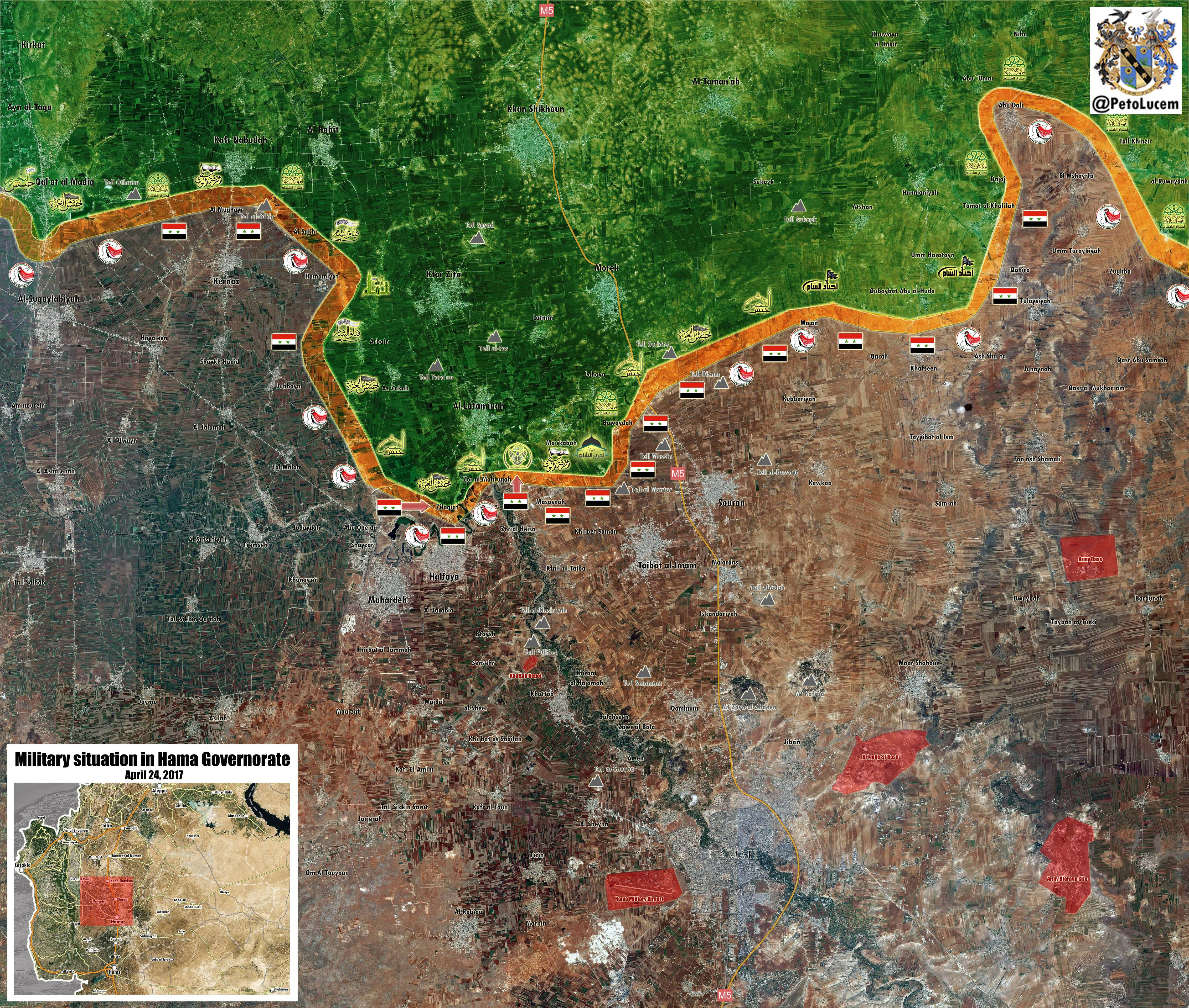 Government Forces Gain More Areas In Northern Hama