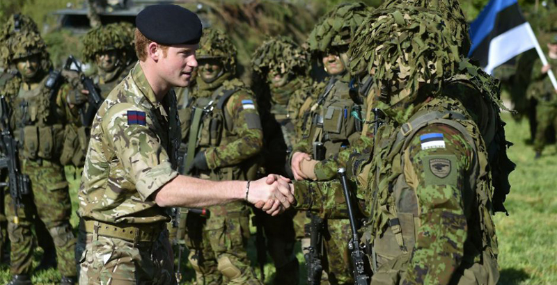Estonian Military Move to Tents Ceding Barracks to NATO Allies