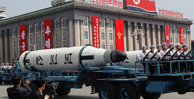 North Korea Holds Military Parade with Nuclear Missiles