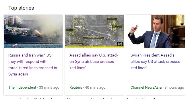 Iran, Russia And Their Allies Say US Missile Strike On Syria Air Base Crosses 'Red Lines'