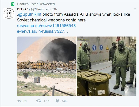 Debunking Rumors About Chemical Weapons Containers In Syria's Shayrat Airbase