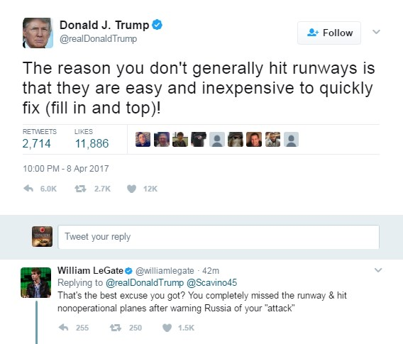 Trump Explains Why Tomahawks Completely Missed Runway At Syria's Shayrat Airbase