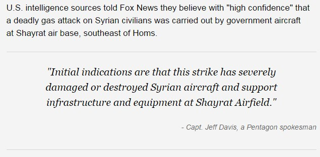 US Central Command: We Didn't Make Shayrat Airfield Inoperable Because We Didn't Want To Do This