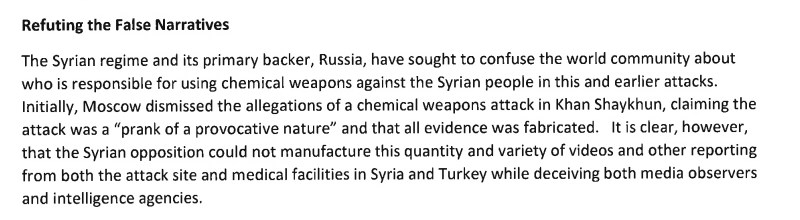 White House 'Declassified Report' On Chemical Weapons Attack In Idlib: Syria And Russia - Guilty, Evidence - Classified