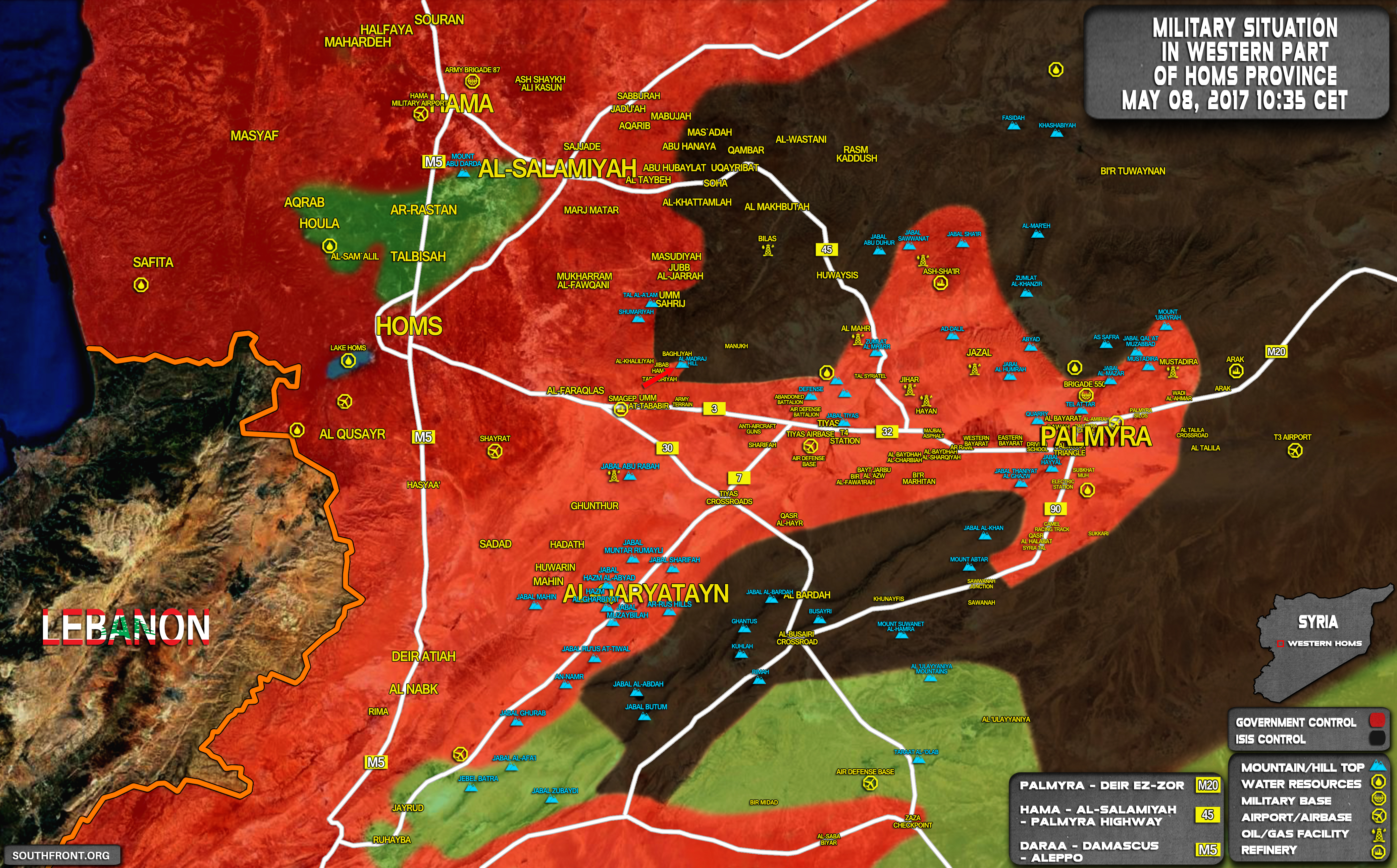 Syrian Army Advanced Into Militant-held Area West Of al-Seen Military Airbase