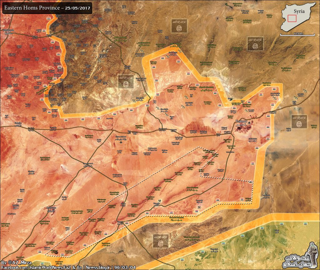 Syrian Army Liberated 1,400 km2 From ISIS In One Day Advance In Homs