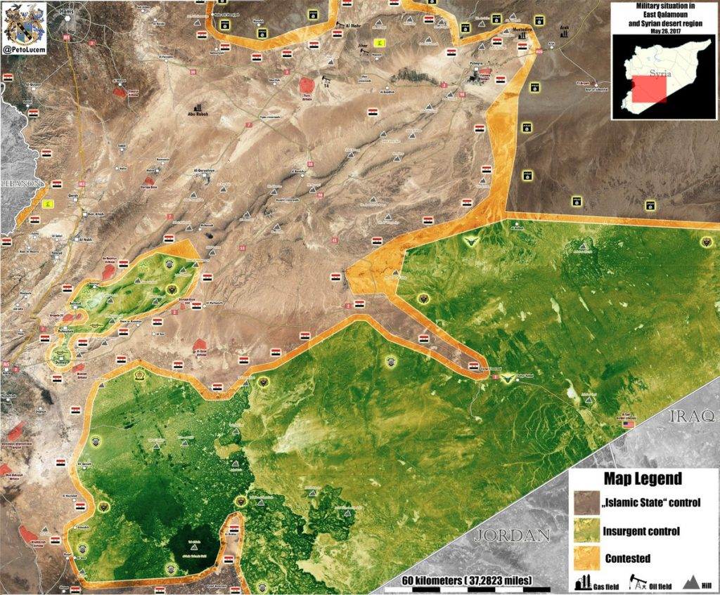 Syrian Military Liberated 5,000 km2 From ISIS In Homs Province
