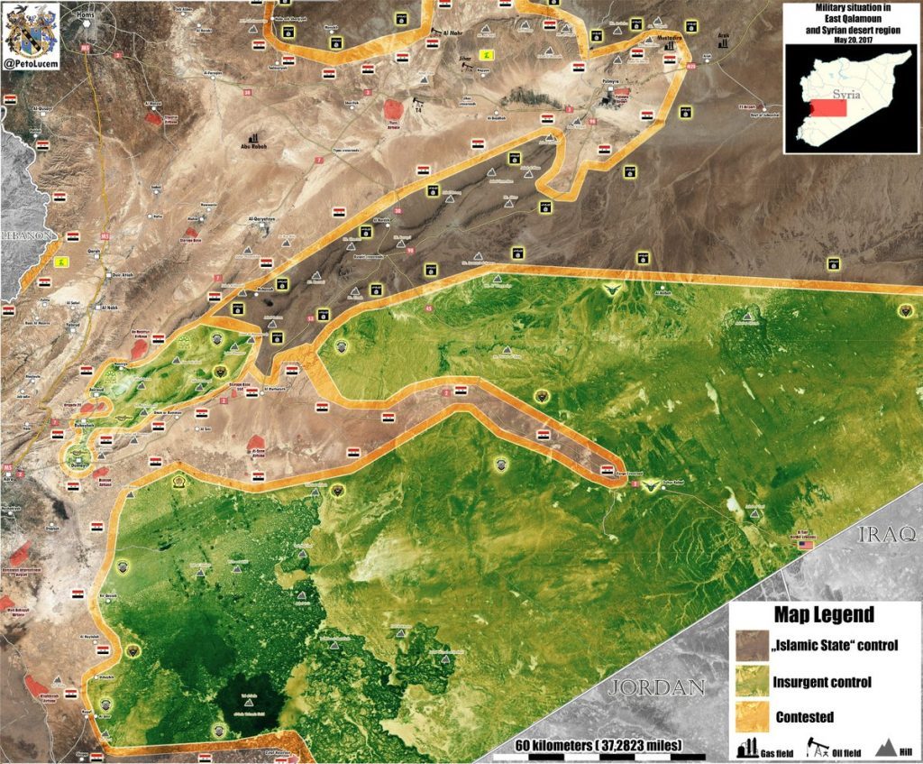 Miltiary Situation In Southeastern Syria After Government Forces Advances (Maps)