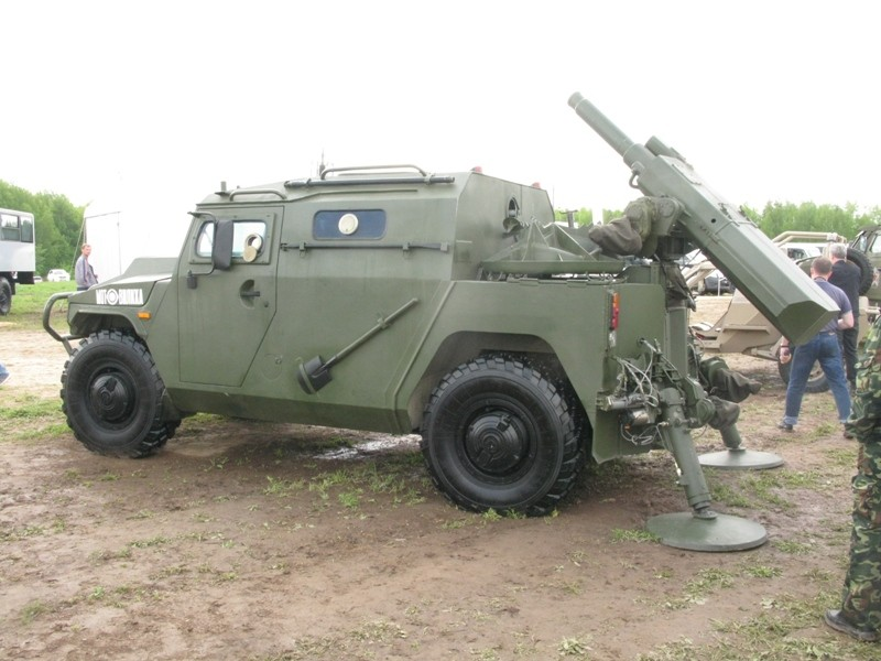 Russian 120mm Mortar : Photos russian mobile mortar system mounted on tiger m