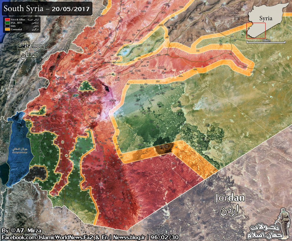 Map Update: Military Situation In Southen Syria
