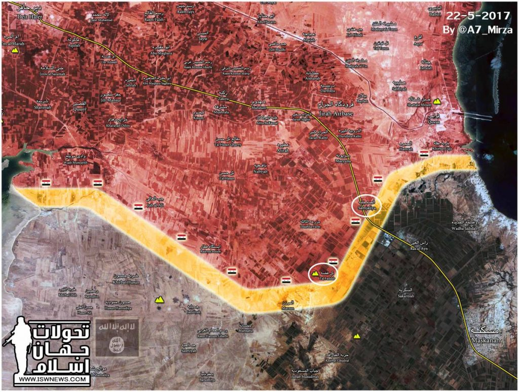 Tiger Forces Crushing ISIS In Aleppo Province, Advance On Maskanah (Map)