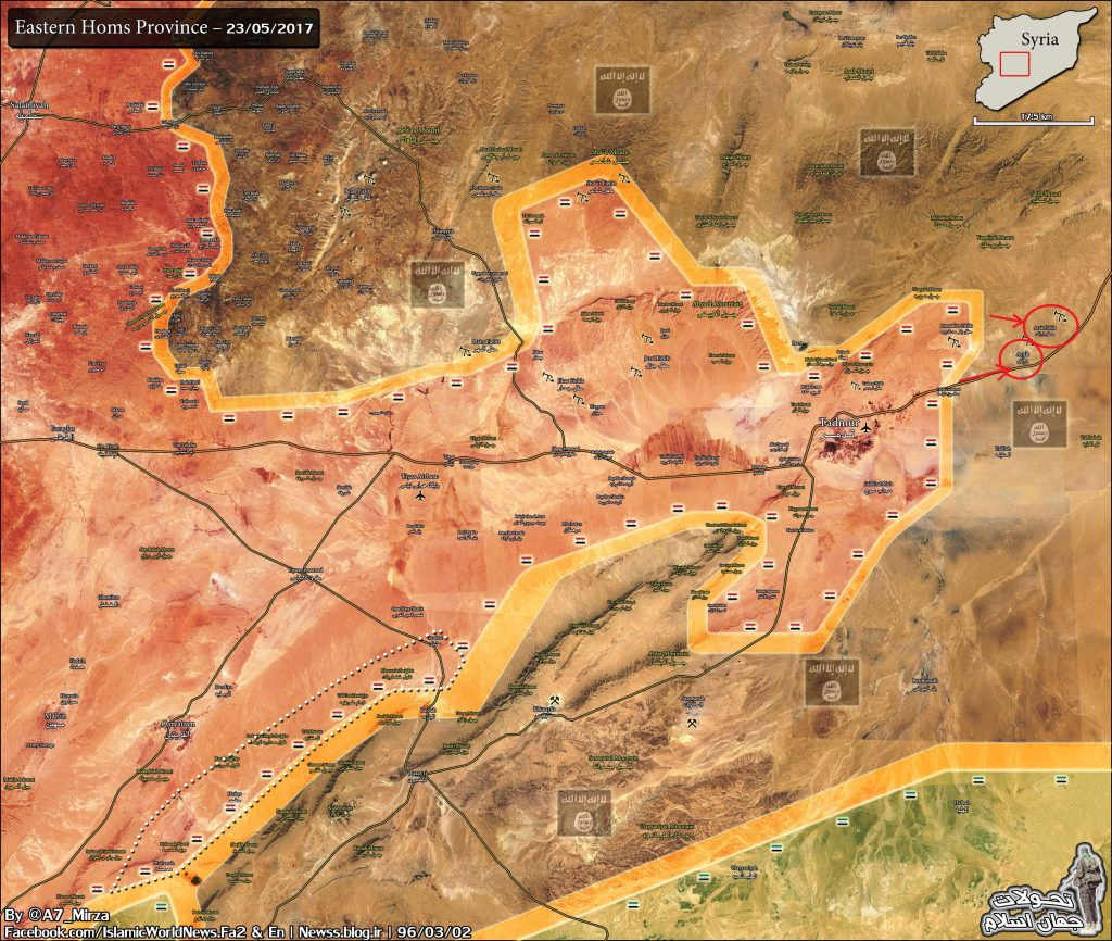 Syrian Army 5th Assault Corps Entered Arak Gas Field Area East Of Palmyra - Reports