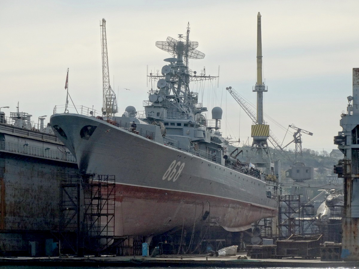 "10. ""Pytlivyi"" in Dock-30, March 3, 2017, on the right, ""Rostov-on-the-Don"" (photo Balabin 1696 from forums.airbase.ru)"