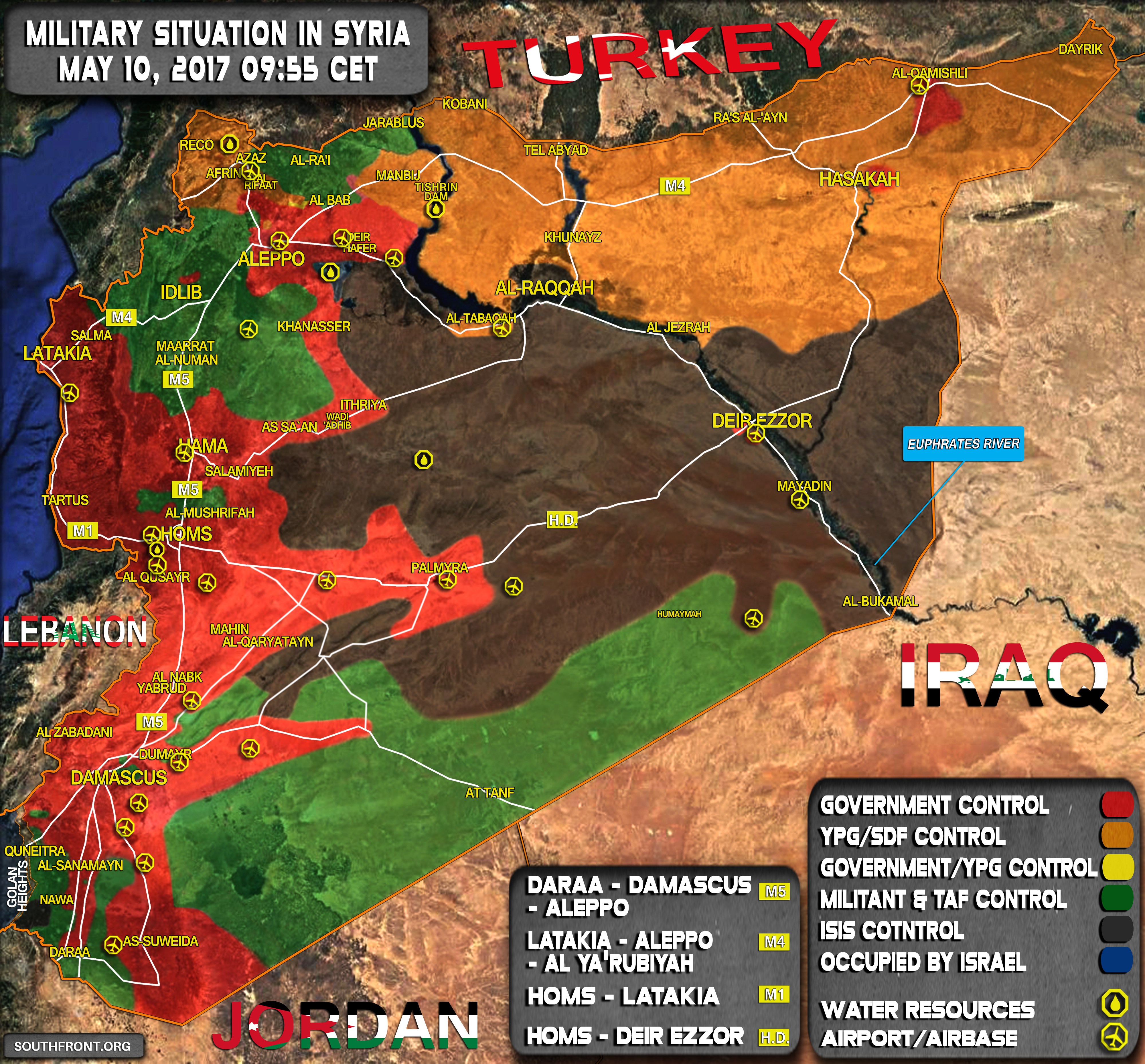Military Situation In Syria On May 10, 2017 (Map Update)