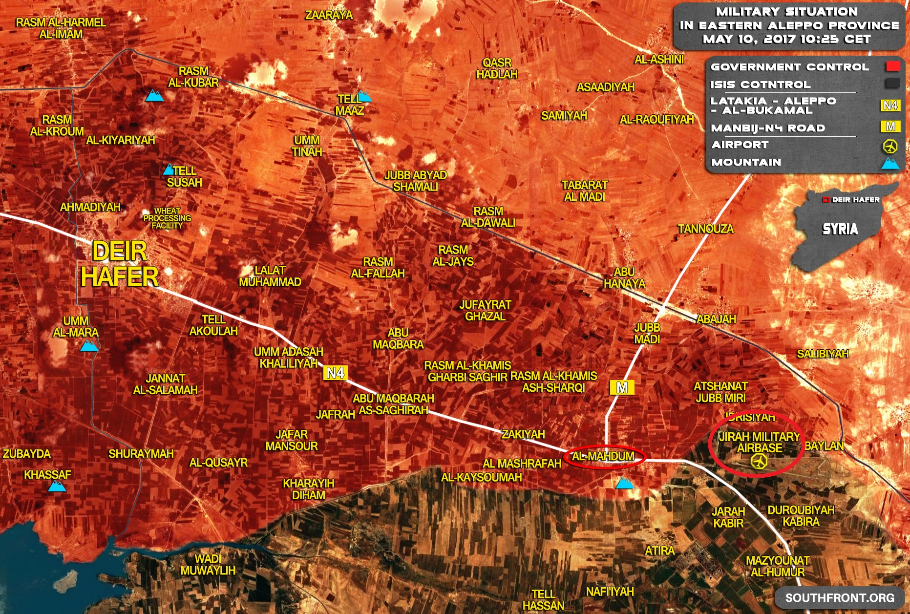 Clashes Ongoing In Vicinity In Jirah Military Airbase As Government Troops Advancing Against ISIS