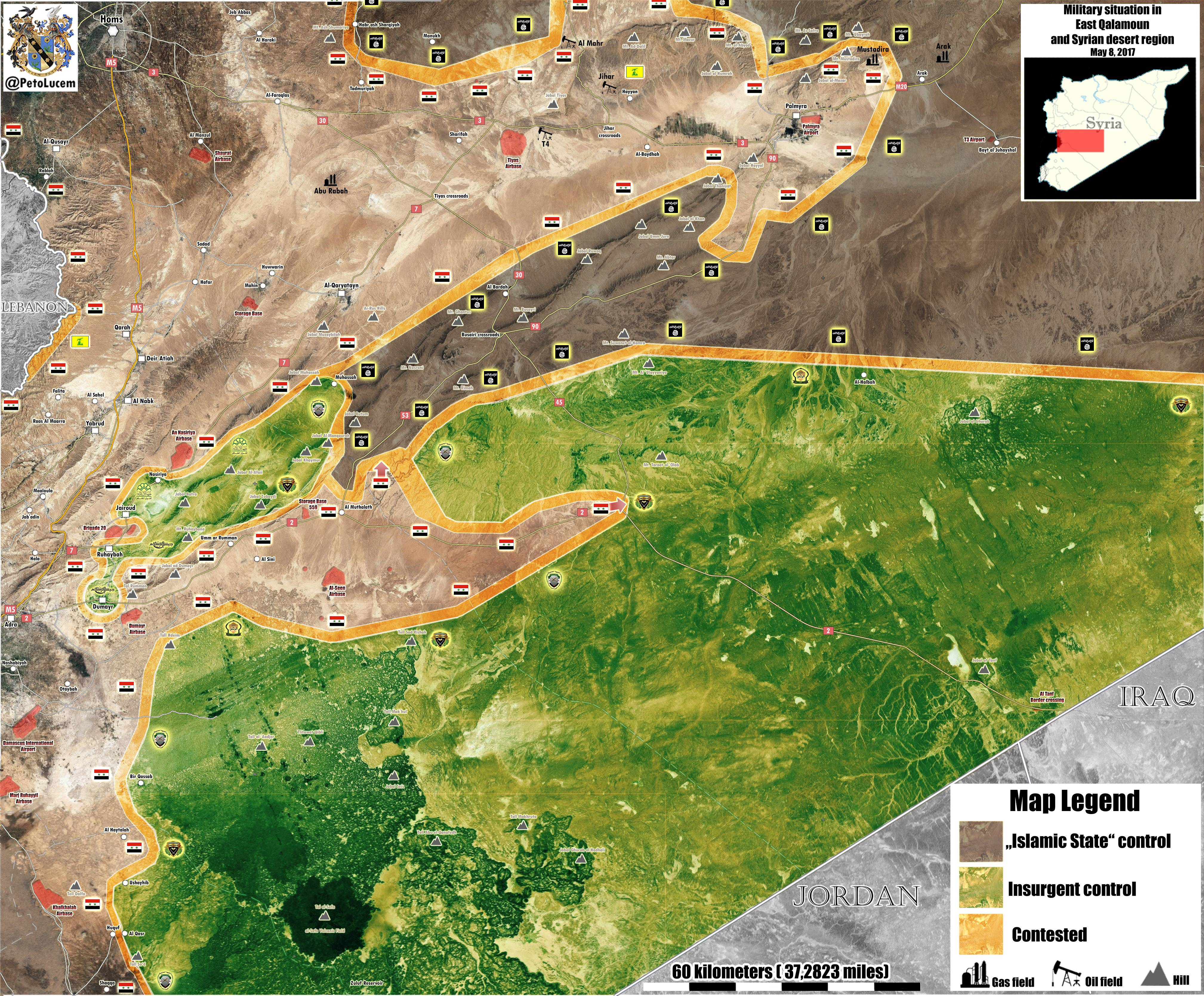 Military Situation In Eastern Qalamoun After Recent Gains By Syrian Army