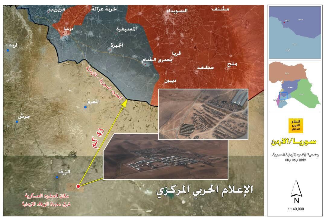US Military Base Near Syrian-Jordanian Border Geolocated By Hezbollah