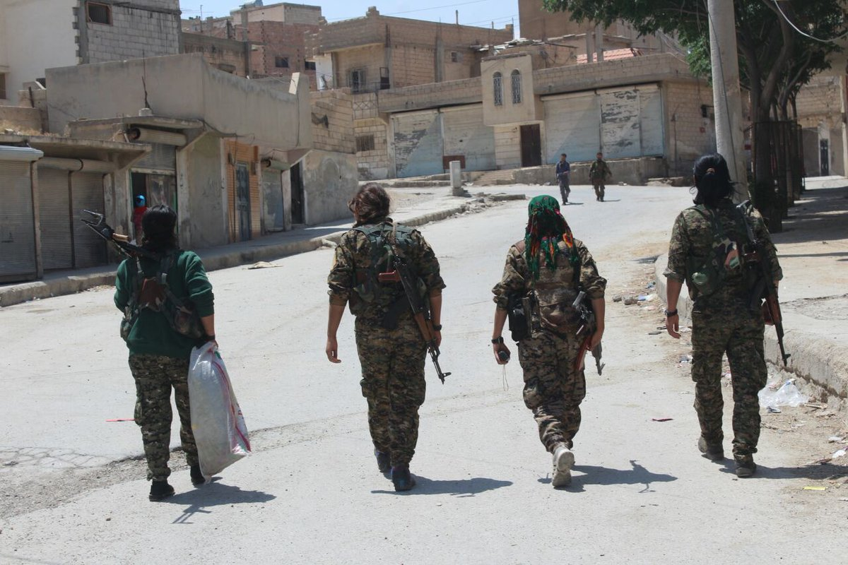 Syrian Democratic Forces Repelling ISIS Attack South Of Tabqah