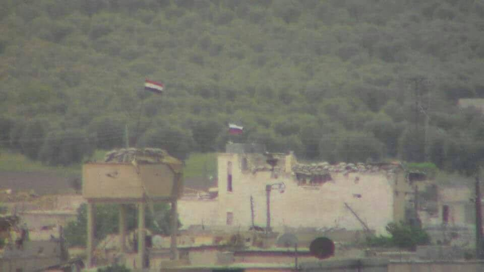 Photos: Syrian, Russian Flags At Checkpoints In YPG-held Area In Northern Syria