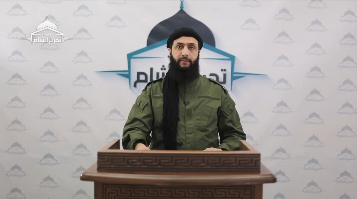 Abu Mohamad al-Jolani the general military leader of HTS